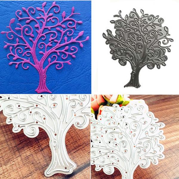 Big Tree Scrapbook Craft Dies Scrapbooking Die 3D Stamp DIY Scrapbooking  Card Making Photo Decoration Supplies