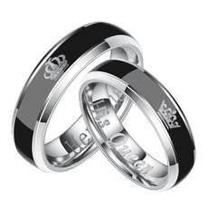 Steel, Couple Rings, Fashion, Jewelry