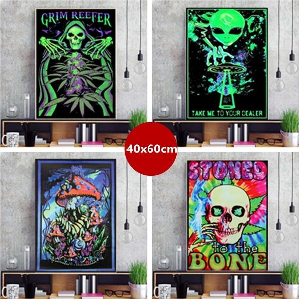 psychedelicart, art, skull, Posters
