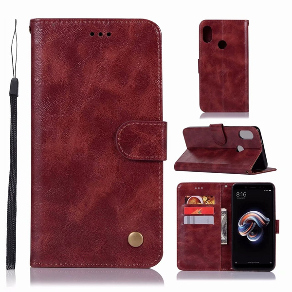 Leather Flip Case For Redmi 3S Note4