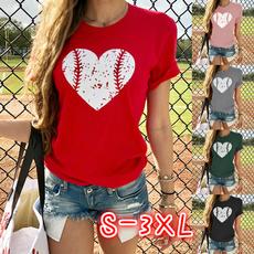 Heart, Plus Size, Cotton T Shirt, Summer