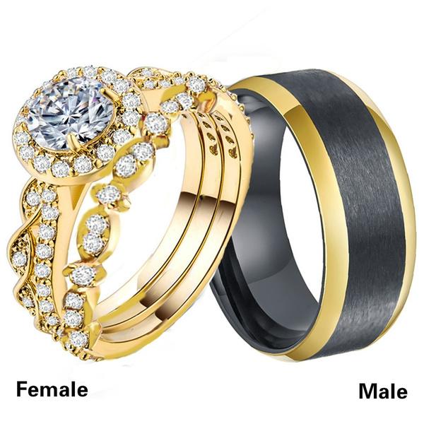 Couple Rings, Steel, baguecouple, Stainless Steel