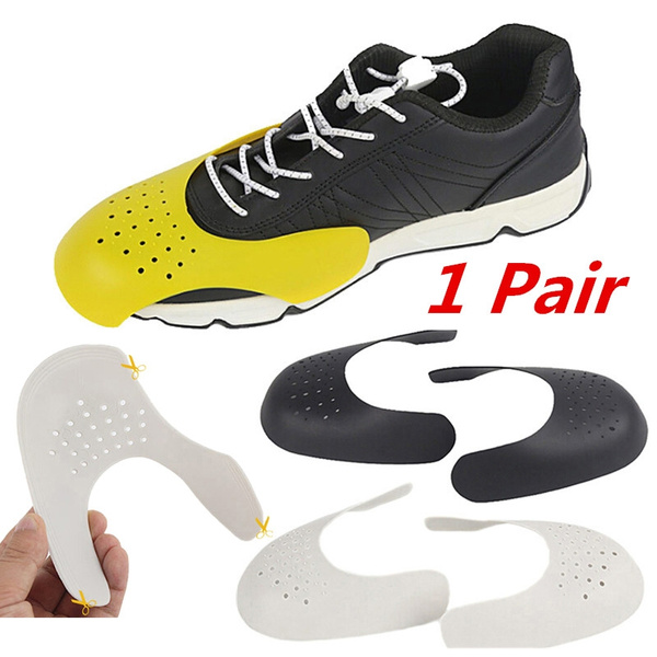 6 Pair Black Shoes Shield Sneaker Protector Anti Crease Shoe Toe Protection
