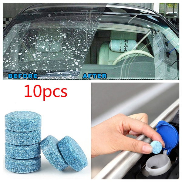 New 10pcs = 40L water Car Windshield Glass Washer Cleaner Compact Effervescent