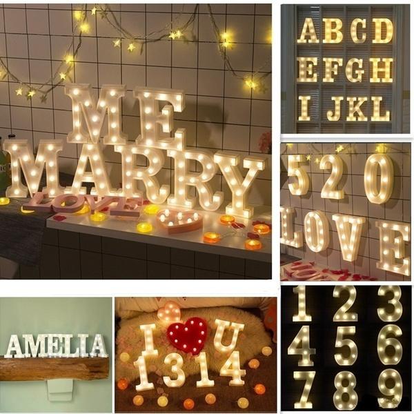 wallhangingnightlamp, alphabetlight, Fashion, lednightlight