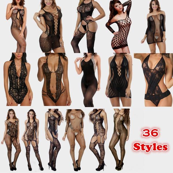 nightwear, Lace, bodystocking, Fish Net