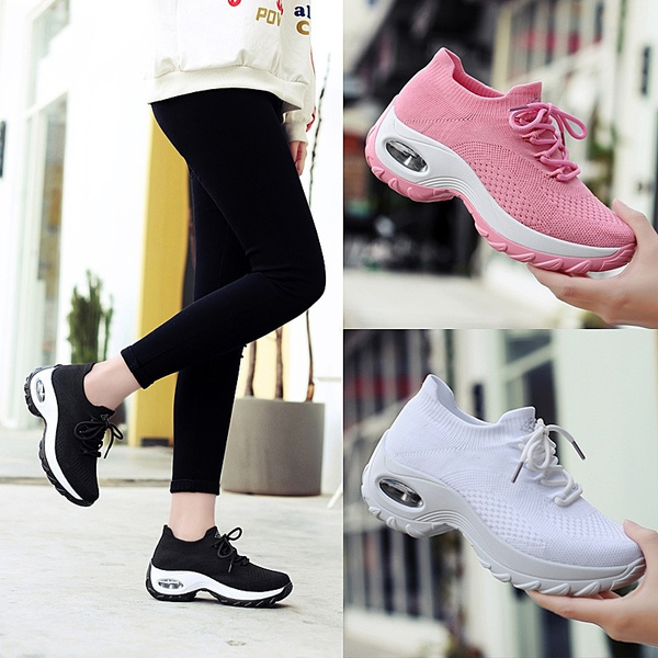 ce7d35e01 fashion sneakers for women sock shoes breathable comfort lighweight ...