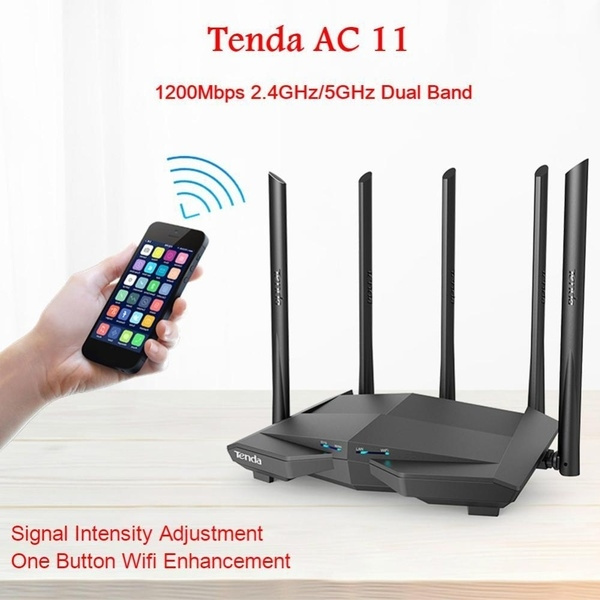 Dual Band 2.4GHz//5.0GHz 1200Mbps Tenda AC6 WiFi Router APP Adapter Repeater