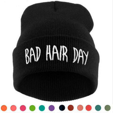 Beanie, hairbadday, knit, badhairdaycap