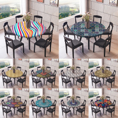 Polyester, Elastic, roundtablecloth, Waterproof