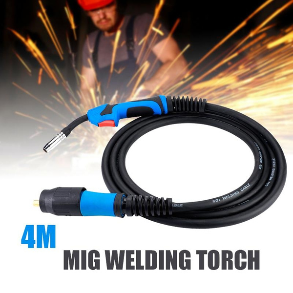 Welding Torch MB15AK MIG Gas Shielded Welding Torch 4M with Euro Standard Fitting Connector