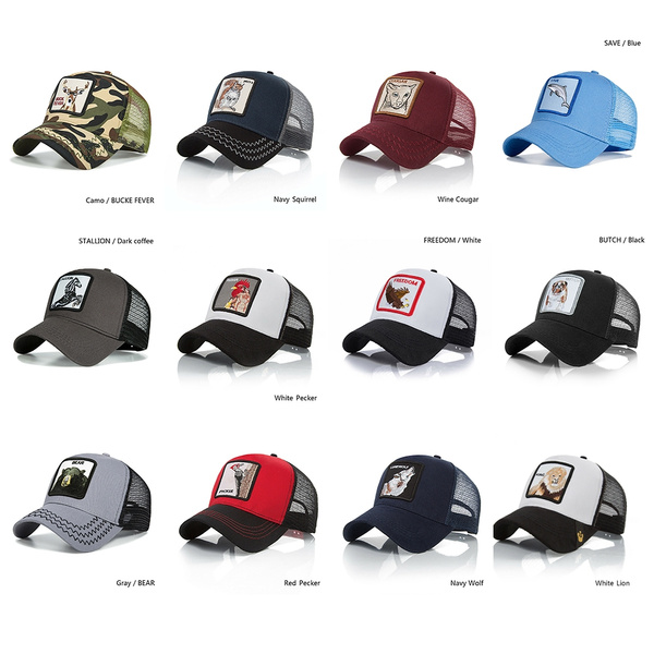 Great Unisex Animal Embroidery Pattern Baseballs Caps Personality Hip Hop Hats