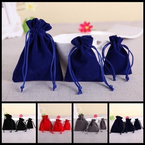 New Jute Gift Bag Drawstring Pouch Velvet Bags Candy Organizer Home Decor