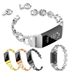 fitbitcharge2strap, womencrystalwatchband, Crystal, stainlesssteelwatchband