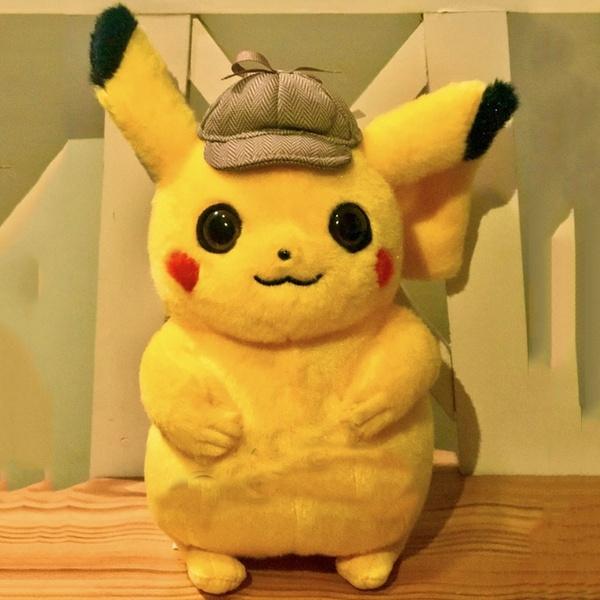 2019 Movie Pokemon Detective Pikachu Plush Doll Toy Christmas Gift