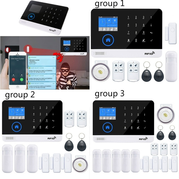 Digoo DG-HAMA All Touch Screen 433MHz GSM WIFI DIY Smart Home Security  Alarm System Kits Compatible with Alexa Version