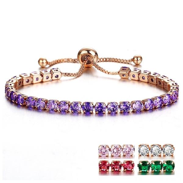 Sterling, Crystal Bracelet, DIAMOND, Bracelet Charm