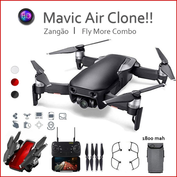 Mavic Air Fly More Combo!! WIFI FPV 4K HD Wide Angle Camera High Hold Mode  Foldable RC Drone Quadcopter RTF Gifts Toys Kids Lasted 30 Minutes 1800mAH