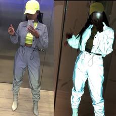 Hip-hop Style, windbreakerforwomen, 3mreflectivejacket, Jacket