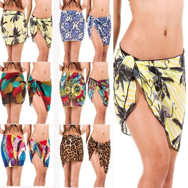 Wrap Women Bikini Bottom Swim Skirt Cover Up Short Beach Dress Swimwear Short