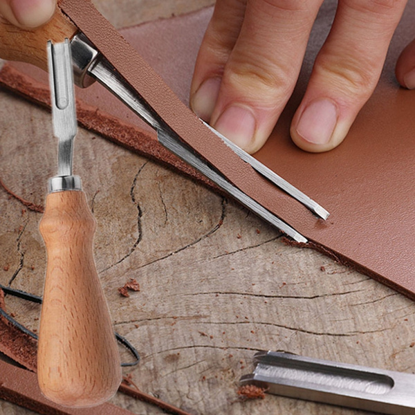 French Style Leathercraft Edge Beveler Leather Cutting Skiving Trimming Tool DIY