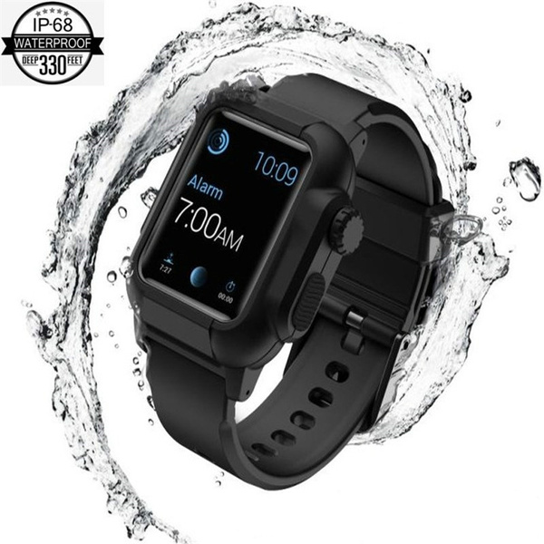 innovative design 2d0b3 e6352 Catalyst Waterproof Apple Watch Case Series 4 44mm with Premium Soft  Silicone Apple Watch Band, Shock Proof Impact Resistant [Rugged iWatch  Protective ...