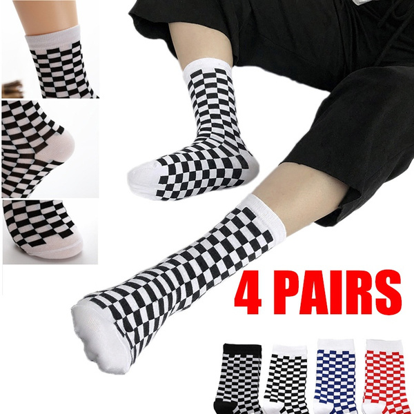 Cotton Socks, checkered, Spring, Men
