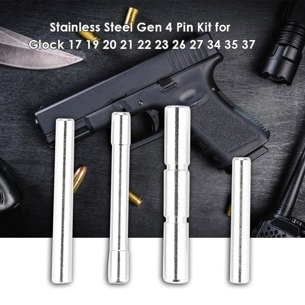 4pcs Stainless Steel Gen 4 Pin Kit Set for Glock Trigger Locking Block  Housing Pin Kit Set for Glock Hunting Accessories Black