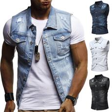 Jacket, Vest, Fashion, Denim