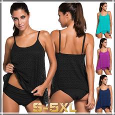 two piece swimsuit, Fashion, chevronpattern, Patchwork