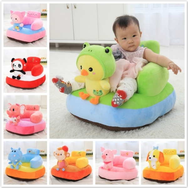 Cute Baby Sofa Seat Cotton Cartoon Unicorn Feeding Chair For