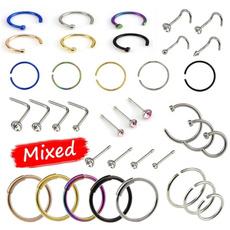 Steel, circlenosestud, Colorful, Women jewelry