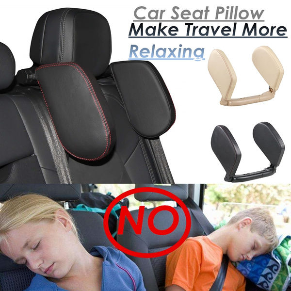 Car Seat Pillow >> Car Seat Pillow Headrest Neck Support Travel Sleeping Cushion For Kids Adults
