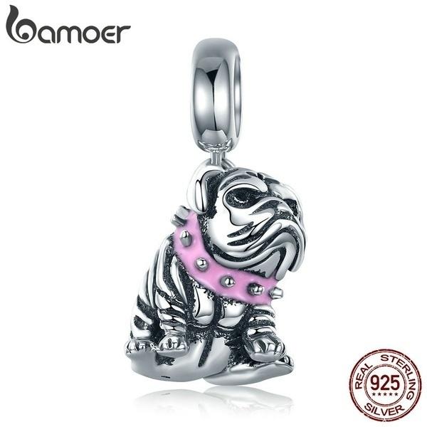 Cute Dog Animal 925 Sterling Silver Charm Bracelet Fit European Bracelet Jewelry
