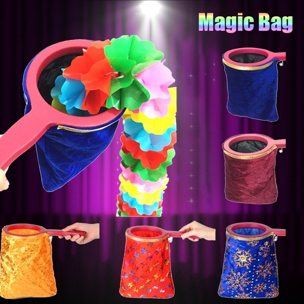 1Pc Change Bag Magic Trick Magic Prop Magicians Stage With Handle New
