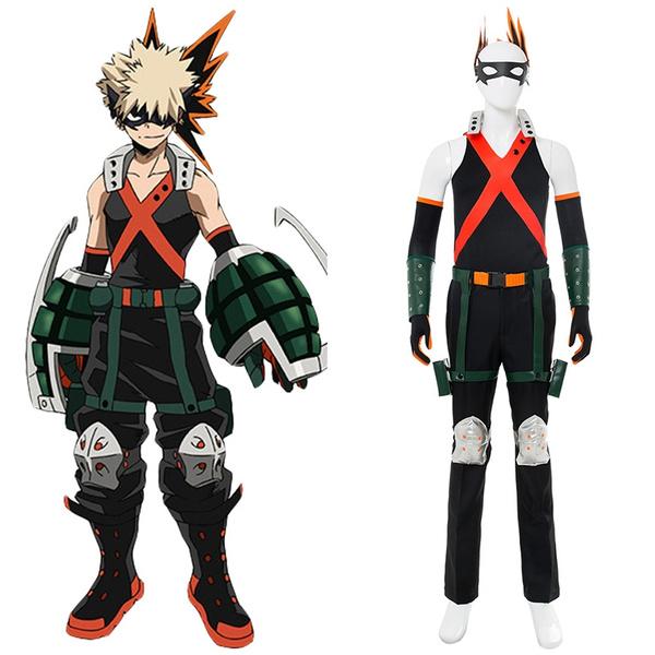 Boku No Hero My Hero Academia Katsuki Bakugou Battle Suit Cosplay Costume Halloween Costume Tights Wish