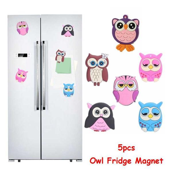 Owl, siliconemagneticsticker, Home Decor, Silicone