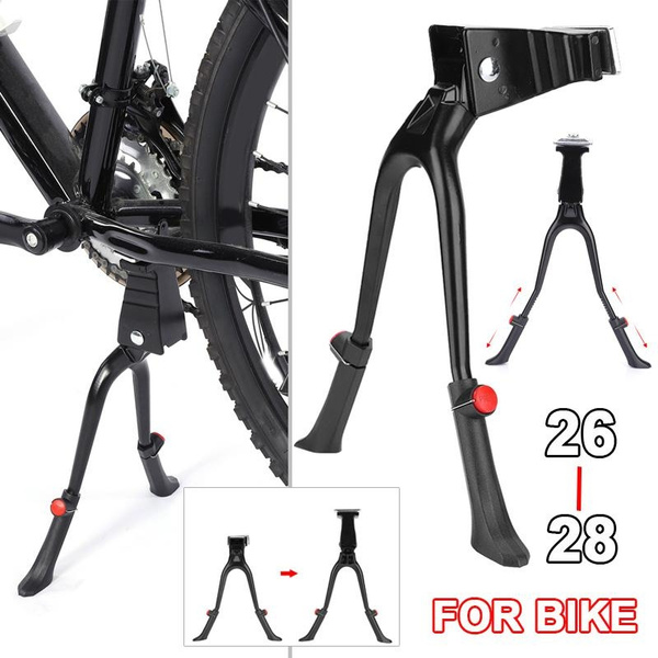Double Two Leg Center Mount MTB Stand Road Bike Bicycle Cycling Side Kick Stand