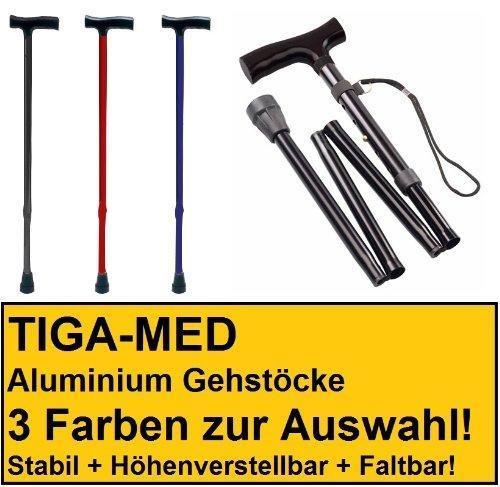 Teleskop Gehstock Gehhilfe Wanderstock Kr/ückstock Spazierstock Faltbar Silber