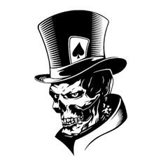 Car Sticker, Poker, Fashion, Skeleton