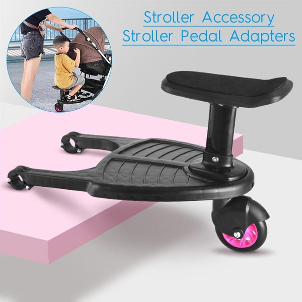 Stroller Auxiliary Pedal Second Child Artifact Trailer Twins Baby Cart Two Children Standing Plate Sitting Seat Stroller Accessories Stroller Pedal