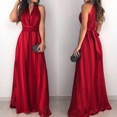 sleeveless, Fashion, long dress, Evening Dress