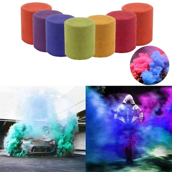 8 Colors Smoke Cake Smoke Effect Show Round Bomb Stage Photography Aid Toy  DIY Toy Props