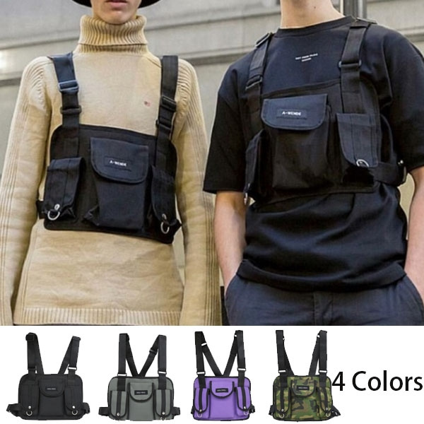 3479a7898ae5d New Hot Fashion Chest Rig Hip Hop Streetwear Functional Tactical Chest Bag  Cross Shoulder Bag
