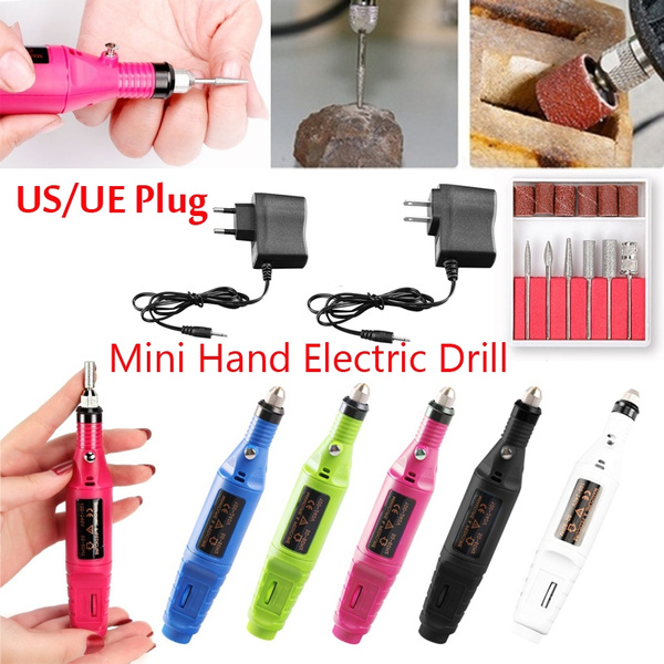 Mini Hand Electric Drill Dremel Drill Carving Polishing Grinding Drilling  Tool for DIY Carving and Grinding Nail Drill Tool