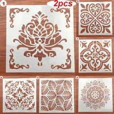 stencil, decorativeaccessorie, Wall, layeringstencil