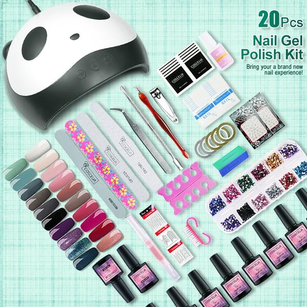 Coscelia 20pcs Gel Nail Polish 36W Nail Lamp Dryer Nail Art Design ...