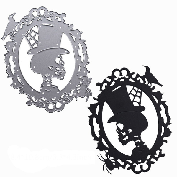 Halloween Skull Metal Cutting Dies Stencil for DIY Scrapbook Album Paper Card 0U