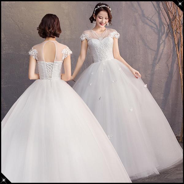 Plus Size Women Wedding Dress Retro Queen Wedding Gown Elegant Ball Gown  Slim Fit Bridal Dress S-5XL