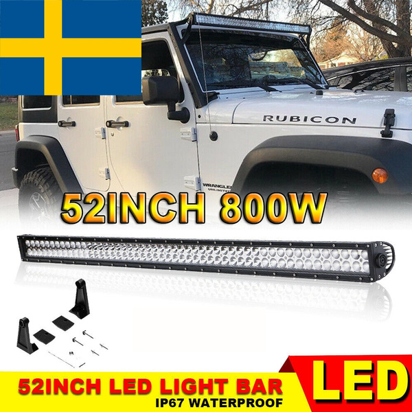 De Stock 52 Inch 800w Led Light Bar With Wiring Harness For Jeep